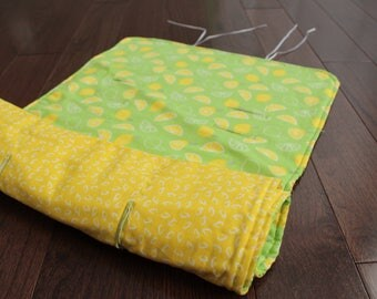 City Mini Stroller/Pram Liner - Limes and Yellow - Ready to ship!