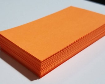 Blank Orange Cards for DIY Crafts, Scrapbooking, Gift Tags, Place cards, Party / Wedding Supplies