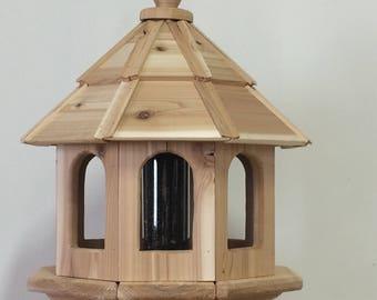 Cedar Gazebo Bird Feeder Handmade