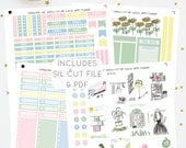 Springtime Chic - Weekly Kit for Classic Happy Planner   Printable Planner Stickers   Includes Silhouette Cut File   Instant Download