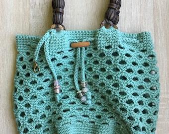Crochet Eyelet Market Tote
