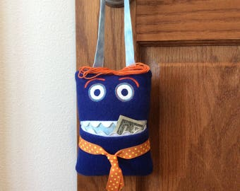 """Tooth Fairy Pillow with handle!  Boy Tote.  Boy pillow. Approximately 5""""x 7"""""""