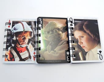 10 Star Wars Notebooks - Star Wars Birthday - Star Wars Card - Star Wars Gift - Star Wars Wedding - Handmade from Upcycled Cards