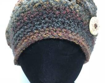 Filet Stitch Beanie Hat