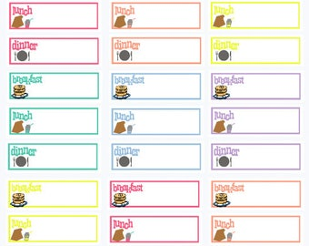 0284-Breakfast Lunch Dinner Blank Meal Stickers/Diet Planner/Daily Menu Tracker/Happy Planner Erin Condren Life Planner/Stinky Feet Stickers