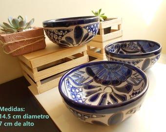TALAVERA plates / Set of 3 bowls