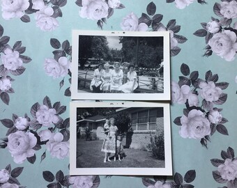 2 Vintage Photos - Mississippi - 1962 - 60's - Spending Time with Grandma