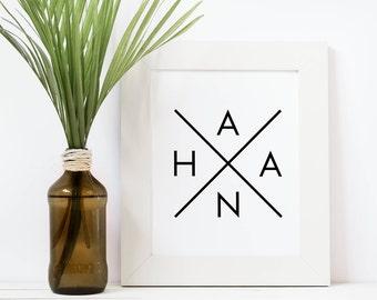 Hana Wall Print, Wall Art, Hana Maui, Printable Wall Art, Home Decor, Hana Art, Road To Hana, Aloha printable, Hawaiian Print, Digital Print