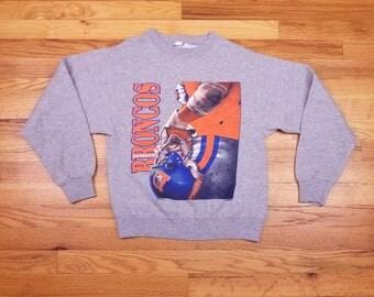 Vintage 80s 1986 Denver Broncos Sweatshirt Shirt Size Small