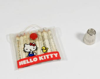 1976 Hello Kitty Mini Colored Pencil Set Sanrio Made in Japan Vintage Hello Kitty
