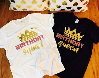Birthday shirt women, adult birthday shirt, birthday girl shirt, squad goals, birthday party shirts, women birthday shirt, birthday girl