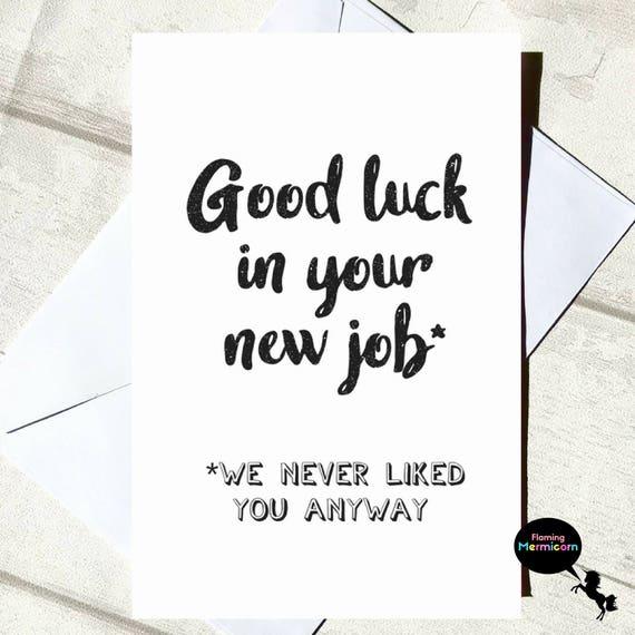 Good Luck New Job Meme Funny : Funny leaving card good luck new job