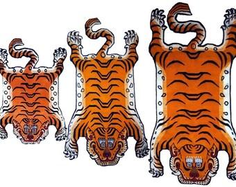 Tibetan Tiger Rug Nepal Wool Himalayan Handcraft 3 sizes meditation seats Carpet