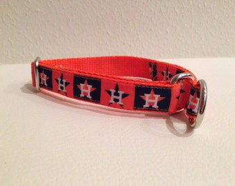 Limited Slip Dog Collar, Small Orange Limited Slip Collar, Small Orange Astros Limited Slip Dog Collar, Small Adjustable Astros Dog Collar