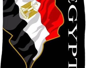 Egypt Custom Flag Fleece Blanket