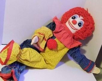 Big Vintage & Handmade Creepy Circus Clown! Ships Priority Mail World Wide!