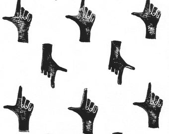 Frame - linoprint pattern