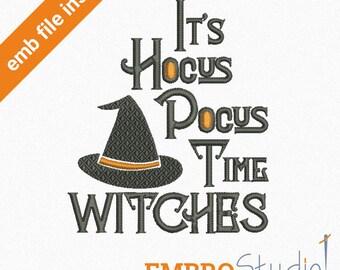 Hocus pocus font. Halloween machine embroidery design (emb, csd, dst, exp, hus, jef, pec, pes, xxx) digitized embroidery downloadable file