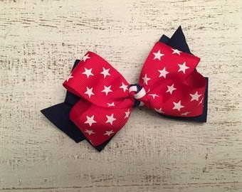 Stars and Strips Hair Bow