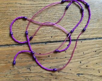 Plastic purple Ulka Paris necklace
