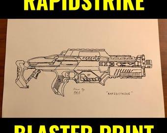 "Nerf Rapidstrike Print 8.5""x11"""