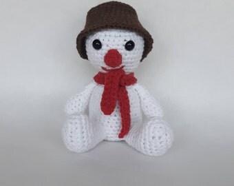 Amigurumi Snowman, Crochet Snowman, Winter decoration, Handmade Christmas Decoration