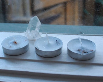 Healing Serenity Spell Tealights- Lavender and Hawthorn (pack of 3)