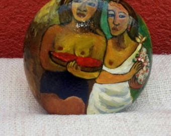 Peinture sur galet, Gauguin