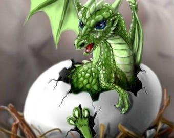 Hatchling  Dragon Cross Stitch Pattern