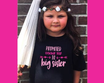 Promoted to Big Sister - Infant, Toddler, Little Girl