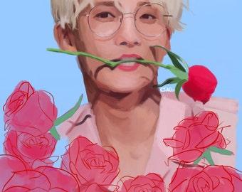 Jeonghan Roses ART PRINT
