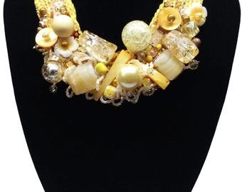 Bib Statement Necklace\ Choker - Sunshine | Brillo del Sol