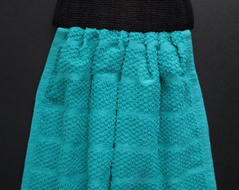 Classy Teal Hanging Hand Towel