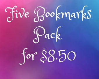 Five bookmarks for 8.50