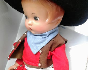 Vintage Effanbee Patsy Doll Cowgirl Repro New In Box COA