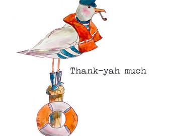 Maine Greeting Cards: Thank-yah Much (blank)