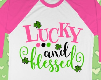 St Patricks Day SVG - St patrick svg - Shamrock svg - Blessed svg - Lucky svg - Clover svg- Svg design- Kids shirt- Digital DXF, png,pdf,eps