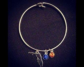 Customizable Florida bracelet (gold or silver)