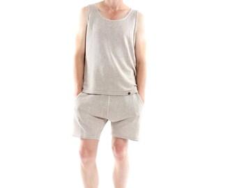Hemp Undershirt, Undershirt, Men, Organic Fashion, Handmade, Vegan, 100% Hemp