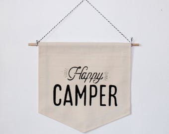 Happy Camper // Wall Banner