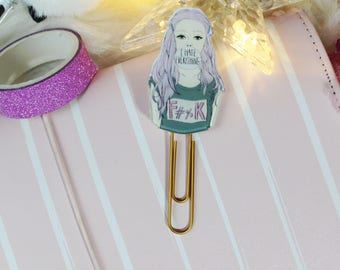Attitude Girl Paper Clip, Bad Girl Planner Clips, TN Planner Paperclip, Sassy Girl Planner Clips, Traveler's Notebook, Planner Accessories