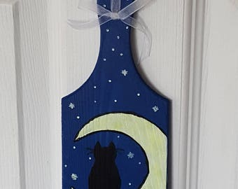 Home Decor Paddle The Cat In The Moon