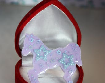 Pony Ring - White and Lavender