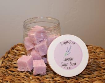Lavender Sugar Scrub Cubes