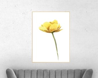Home decor wall art, floral decal, floral canvas print, floral wall art, new house decoration, canvas art, flowers painting, nursery art