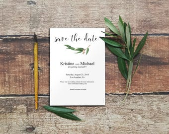 Save the Date Cards, Eucalyptus Save the Date, Save the Date Printable, Save the Date Template, Printable Save the Date, DIY Wedding, 6042