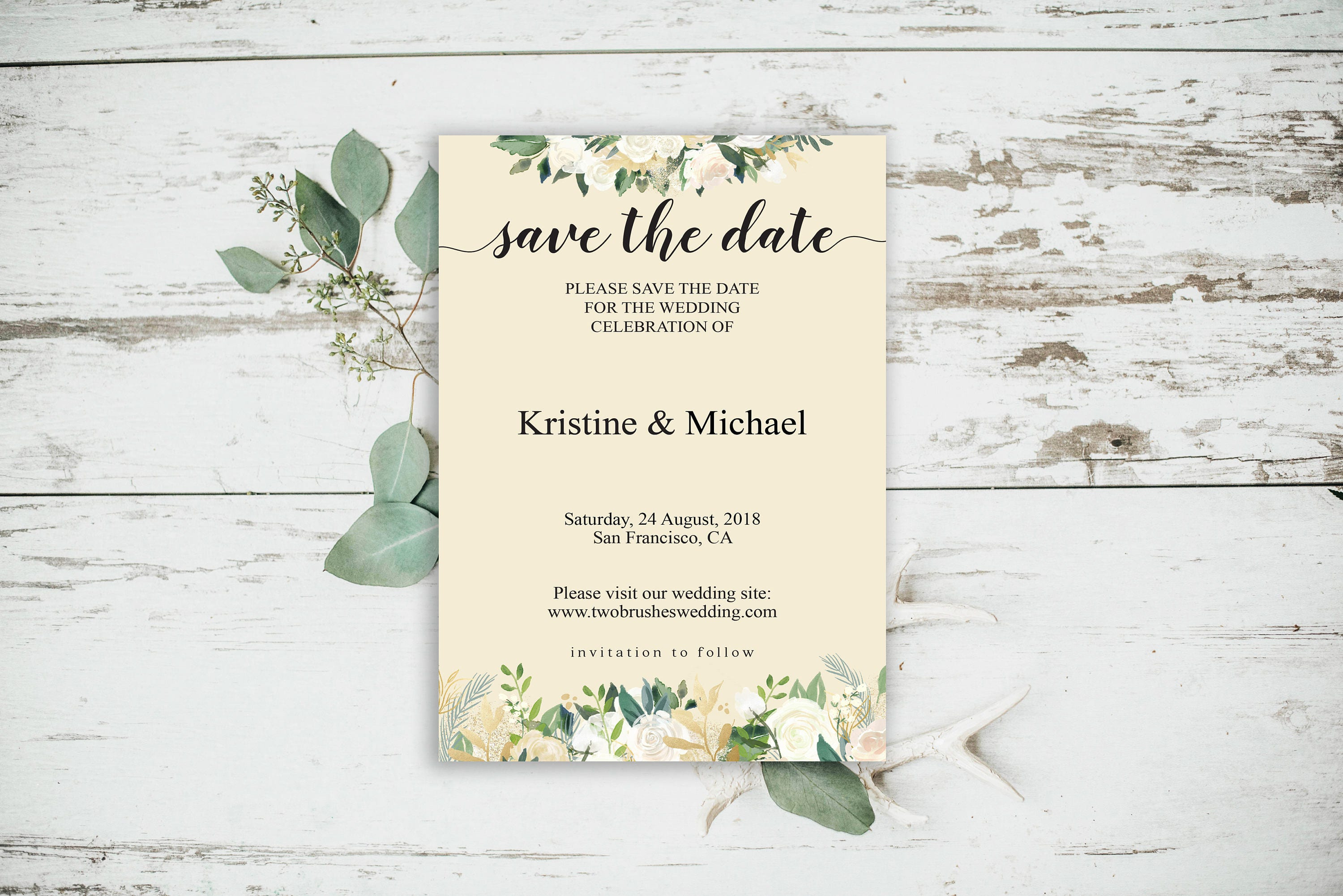 Save the Date Template Save the Date Template Printable Rustic