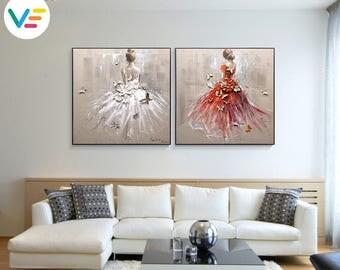 Acrylic Painting Textured Canvas Relief Portrait, Wall Art, Sculpture, 3D Art, Contemporary Artwork, Home-Office-Business