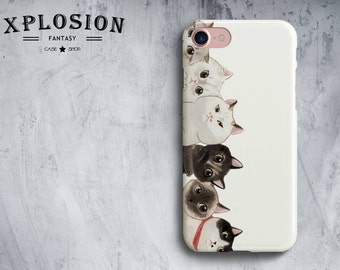 Cat Phone Case iPhone 8 Case iPhone 7 Plus Case Galaxy S8 Case iPhone X Case Cat Lover Gift Cat For Galaxy S8 Case Galaxy S8 Plus Case