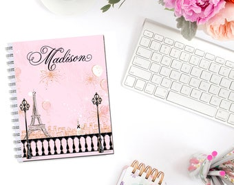 Pretty In Pink Paris Monogram Planner Cover Erin Condren Life Planner Recollections A5 B6 Personal Pocket Dashboard Happy Planner